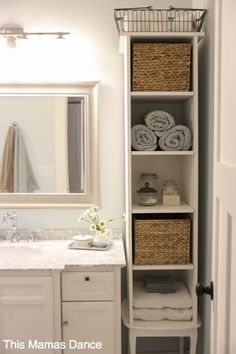Bathrooms Storage Ideas  Whether your bathroom is large or small, these savvy storage ideas will help you add space and stay organized.