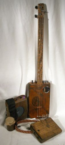 Cigar-Box-Acoustic-Electric-Guitar-Dual-Pickups-Amp-Kitchen-Sink-Package