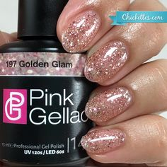 nails.quenalbertini: Pink Gellac 'Golden Glam' | Chickettes