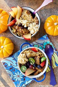 Pumpkin Breakfast Bake with Streusel Topping http://www.attunefoods.com/blog/2012/10/pumpkin-breakfast-bake-with-streusel-topping/