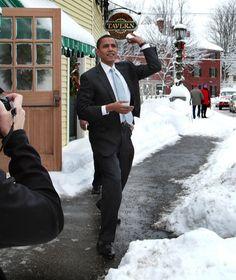 Random shot of the President.