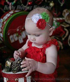 Baby Christmas Headband Baby girl headband by BabyBloomzBoutique