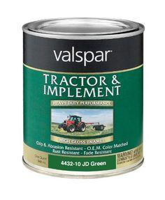 valspar 4432 10 john deere green tractor and implement paint 1 quart