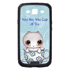 Cat in Teacup Samsung Galaxy S3 Skinit Cargo Case by SimonaMereuArt $51.40   #cat #tea #teacup #cute #gift #samsung