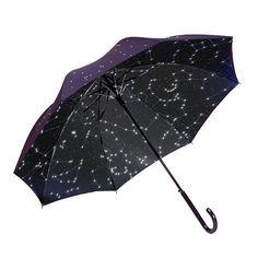goes54667752: Starry night umbrella星空傘傘の布地に穴を開けて、透明なビニールシートを重ね合わせるのです。夜にこの傘を差すと、ネオンサインや街灯の明かりがこの穴から差し込んで星がキラキラ光るのです。説明しないと伝わらないデザインは弱いでしょうか...