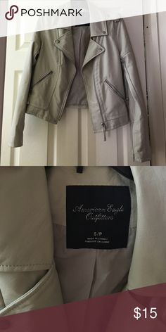 """Jacket American Eagle """"leather"""" jacket. Basically brand new, only worn once! American Eagle Outfitters Jackets & Coats"""