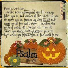 Being a Christian is like a pumpkin