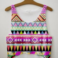 Colorful Printed Fresh Top