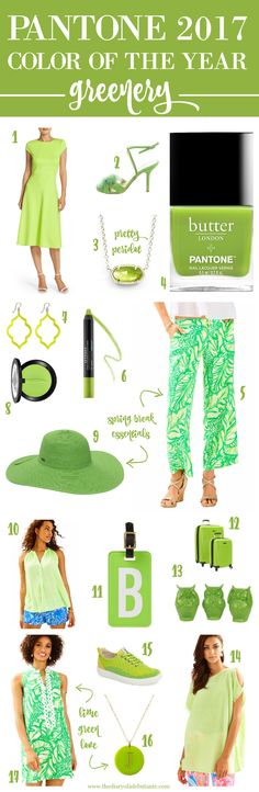 How to wear Pantone's Color of the Year for 2017-- Greenery!