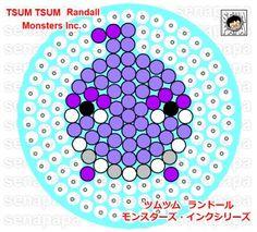 Tsum Tsum Monsters,Inc. perler bead pattern