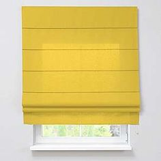 Dekoria Raffrollo 100x 170cm (100,3x 170,2cm) padva mit Armaturen–Sunshine Gelb