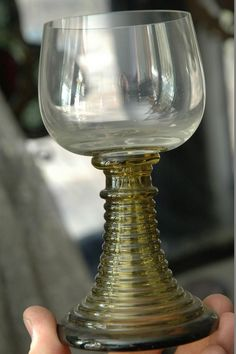 "Antique Roemer wine goblet lot. Raised relief on smaller goblets. 13 pieces total. Sizes range from 3""-6"". Very rare."