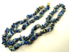 Lapis Lazuli Chips Necklace (Quality C) / 41 cm / 84 carats / 236 pieces / ST-3070 by beadsofgemstone on Etsy