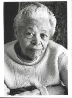 "Ann Petry (1908-1997), the first African American author to top a million sales with her novel The Street. ""Her voice had a thin thread of sadness running through it that made the song important, that made it tell a story that wasn't in the words – a story of despair, of loneliness, or frustration. It was a story that all of them knew by heart and had always known because they had learned it soon after they were born and would go on adding to it until the day they died."" Her short story, ""Li..."