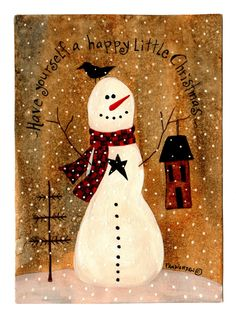 Snowman Happy Little Christmas no link but cute picture for reference