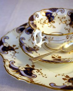 ✿⊱╮Perfect & Precious in Hues of Royal Purple & Gold -=- It's All About Afternoon High Tea Time