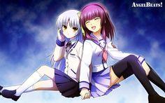 Angel Beats - Angel and Yurippi Angel Beats, Sad Anime, Me Me Me Anime, Anime Art, Anime Angel, Android Wallpaper Vintage, Otaku, Animé Fan Art, Angel Wallpaper