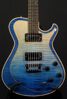 Knaggs Guitars  Kenai T2 Double Purf Faded Ocean Blue