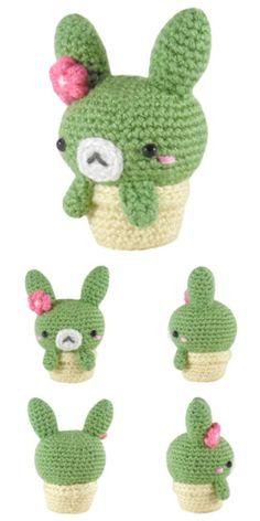 FREE cactus bunny amigurumi pattern #crochet #crafts