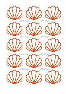 Macarons, Macaroons Flavors, Royal Icing Templates, Royal Icing Transfers, Macaroon Template, Mini Cupcakes, French Macaroon Recipes, Seashell Cake, Chocolate Butterflies