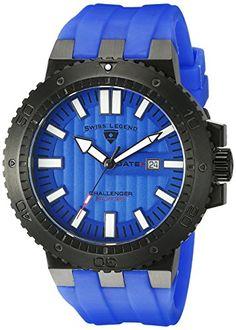 SWISS LEGEND HERREN 50MM BLAU KAUTSCHUK ARMBAND MINERAL GLAS UHR 10126-BB-01-BLA - http://uhr.haus/swiss-legend/swiss-legend-herren-50mm-blau-kautschuk-armband