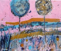 Buy Two Trees Against A Pink Sky, Acrylic painting by Martina Furlong on Artfinder. Discover thousands of other original paintings, prints, sculptures and photography from independent artists. Pink Painting, Acrylic Painting Canvas, Painting Frames, Magical Paintings, Paintings For Sale, Original Paintings, Pink Sky, Pink Blue, Yellow