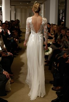 Brides.com: 25 New Wedding Dresses with Statement Backs. Wedding dress by Carolina Herrera See more wedding dresses from Carolina Herrera's Spring 2015 collection.