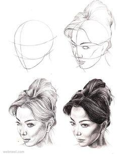 visages de dessin