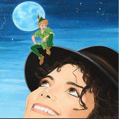 Art with Soul - Michael Jackson and Peter Pan. Cute. Wish I knew who the artist is.
