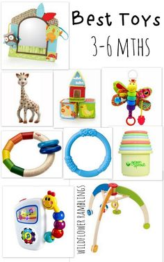 Best Baby Toys: 3-6 Months from Wildflower Ramblings