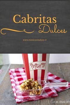 Una de las cosas que más extraño es ir al cine y comerme una ricas cabritas chilenas acarameladas y bien dulces. Acá son saladas y no logro acostumbrarme.
