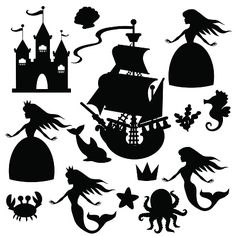 Search from 60 top Silhouettes Princess pictures and royalty-free images from iStock. Mermaid Vector, Shadow Theatre, Album Jeunesse, Maila, Shadow Puppets, School Art Projects, Sand Art, Silhouette Vector, Vinyl Crafts
