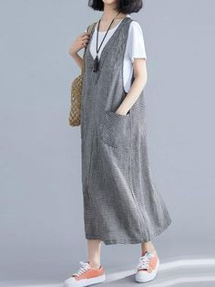 Always On the Way Jumper Midi Dress - Eva Trends Jumper Dress, Blouse Dress, Hijab Evening Dress, Iranian Women Fashion, Robes Midi, Fashion Sewing, Fashion Dolls, Overall Dress, Cotton Dresses