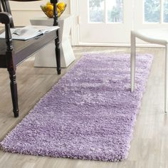 California Shag Lilac (Purple) 2 ft. 3 in. x 11 ft. Runner