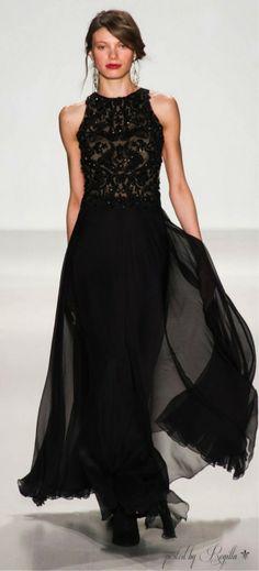 Black Tadashi Shoji gown~