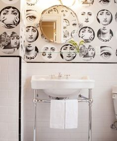 Before & After: A Bold, Black & White Bathroom Makeover | Apartment Therapy