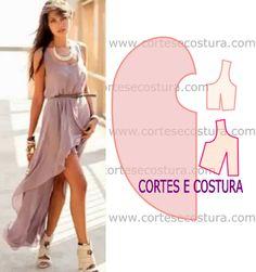 VESTIDO ASSIMÉTRICO CURTO | Cortes e Costura