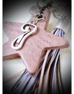 Μπρελόκ - Γούρι Leather Star & Tassel Personalized Items