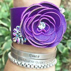 Royal purple and vintage earrings!