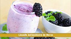 LICUADO ANTIOXIDANTE DE MORAS - Healthy Blackberry Smoothie - Previene el cancer - Aumenta las defensas del organismo - delicioso licuado - receta facil - bebidas naturales - BEBIDAS SALUDABLES