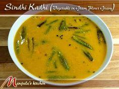 Sindhi Kadhi (Vegetable in Gram Flour Gravy) - Manjula's Kitchen - Indian Vegetarian Recipes