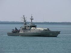 Royal Australian Navy Austal built Armidale class fast patrol boat.