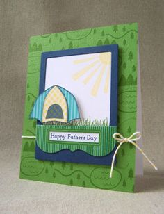 June Color Play - Father's Day Camping Card by Lizzie Jones for Papertrey Ink (June 2013)