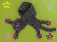 bufanda gato tejida