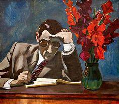 Aleksandr Deineka - Difficult decision, Oil on canvas, 90 x cm. People Reading, Art Bin, Francis Picabia, Socialist Realism, Soviet Art, Oil Painting Reproductions, Russian Art, Letter Art, Art Themes