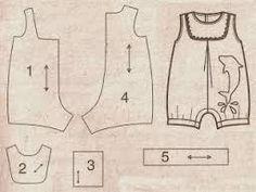 Resultado de imagem para moldes de roupas para bebe