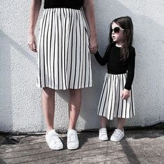 Monochrome twins  love this look from @dancewithdirtyfeet  #juniortrends