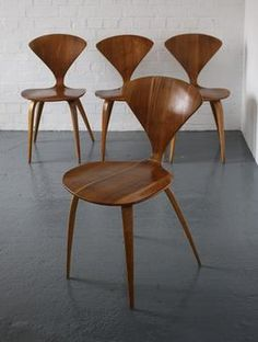 Norman Cherner 1950s side chairs