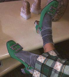 Gray Velvet on Sock Shoes, Cute Shoes, Me Too Shoes, Trendy Shoes, Shoes Heels, High Fashion, Fashion Shoes, Fashion Outfits, Womens Fashion