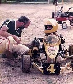Tony Stewart and his Dad